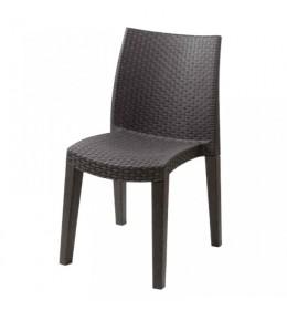 Baštenska stolica plastična braon Lady