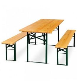 Baštenski drveni set - Sto+2 klupe