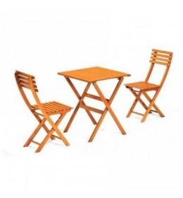 Baštenski drveni set Bistro - Sto+2 stolice