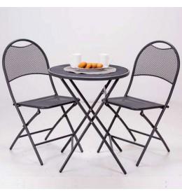 Baštenski set 2 stolice i metalni sto