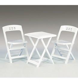 Baštenski set sto i 2 stolice Beli Balkon