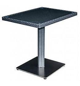 Baštenski sto H Line sa staklom crni