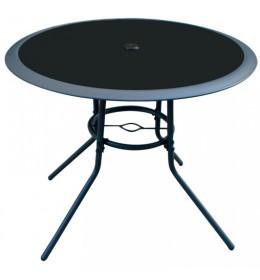 Baštenski sto sa staklenom pločom Lipari fi90cm