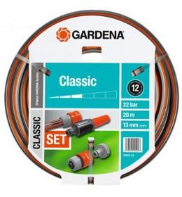 """Baštensko crevo Gardena Classic 20 m, (1/2"""") + nastavci + prskalica"""