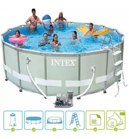 Bazen Intex 488x122cm ultra frame sa peščanom pumpom