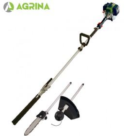 Benzinski trimer za travu sa testerom za grane i trimerom za živu ogradu Agrina YG520