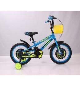 "Dečiji bicik BMX 16"" plavo žuta"