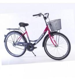 Bicikl City Bike Paris 26in siva ciklama