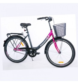 Bicikl City Bike V-Bike Lux 26in siva ciklama