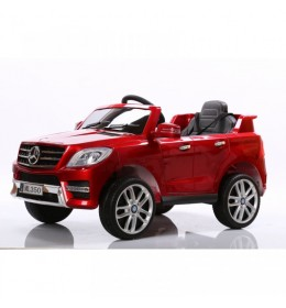 Auto na akumulator sa kožnim sedištem i mekim gumama Mercedes ML350 Licencirani - Crveni