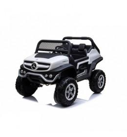 Automobil na akumulator Mercedes Unimog Dvosed BELI 4x4