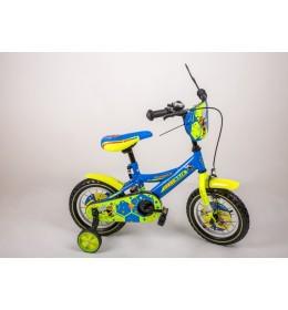 """BMX  Bicikl 12"""" Žuto-Plavi"""