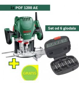 Bosch glodalica POF 1200 AE + Set od 6 glodala
