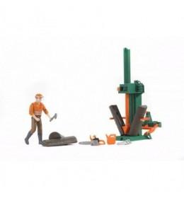 Oprema za sečenje drva sa figurom Bruder