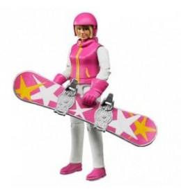 Bruder Figura žena na snowboard-u