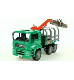 Bruder kamion MAN sa utovarivačem za drva