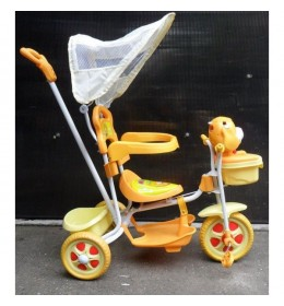 Capriolo Tricikl TR8012DG sa drškom i suncobranom žuti