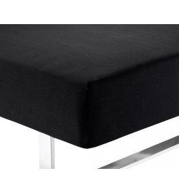 Čaršav 140/150×200×40 žersej crni