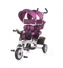 Tricikl za blizance Chipolino Apollo Ljubičasta