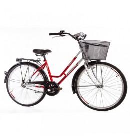City Bike Classic 28in crvena-srebrna