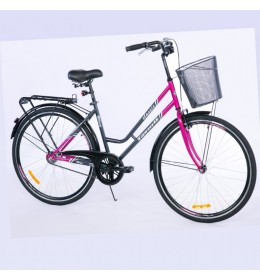 City Bike Classic 28in siva-ciklama