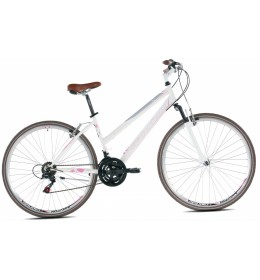 City Bike Sunrise Lady 28 Bela i Pink 17