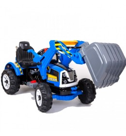 Dečaji traktor na akumulator Loader plavi