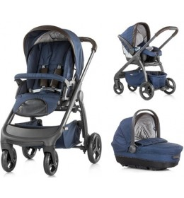 Dečija kolica set 3u1 Chipolino Aura Blue Indigo