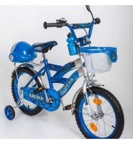 Dečiji bicikl sa pomoćnim točkićima BMX 16 plavi