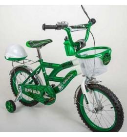 Dečiji bicikl sa pomoćnim točkićima BMX 16 zeleni