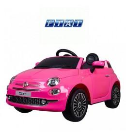 Dečiji autić na akumulator FIAT 500 Model 237 Roze sa Kožnim sedištem