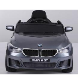 Dečiji auto na akumulator BMW 6 GT LICENCIRANI sa kožnim sedištem i mekim gumama sivi