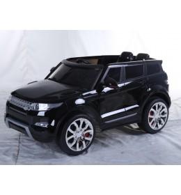 Dečiji auto na akumulator LAND ROVER crni sa kožnim sedištem i mekim gumama