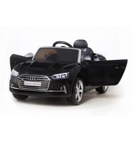 Dečiji auto na akumulator licenciran AUDI S5 CABRIOLET crni sa kožnim sedištem i mekim gumama