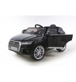Dečiji auto na akumulator licencirani Audi Q7 2018 crni sa kožnim sedištem