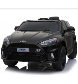 Dečiji auto na akumulator licencirani Ford fokus 2018 crni sa mekim gumama i kožnim sedištem