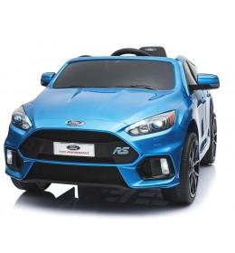 Dečiji auto na akumulator licencirani Ford fokus 2018 plavi sa mekim gumama i kožnim sedištem