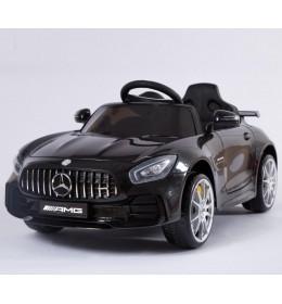 Dečiji auto na akumulator licencirani MERCEDES GT AMG 2018 crni sa mekim gumama i kožnim sedištem