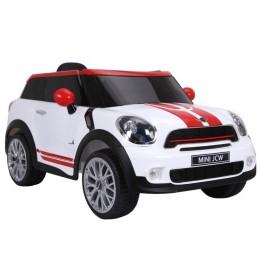 Dečiji auto na akumulator licencirani Mini Moris Paceman 2018 crni sa kožnim sedištem