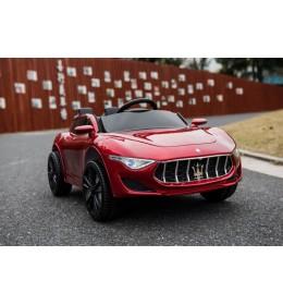 Dečiji auto na akumulator Maserati crveni kožno sedište i meke gume