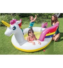 Dečiji bazen Magični Jednorog sa prskalicom Intex