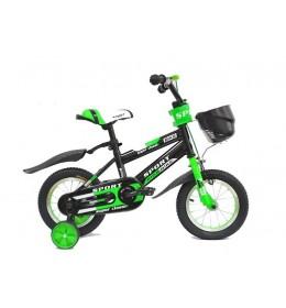 "Dečiji bicikl 16"" sport 702 crno zeleni"