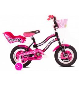 "Dečiji bicikl Adria 2016 fantasy 12"" crno-pink"