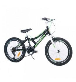 Dečiji bicikl Casper 200 20in 6 crno-zelena