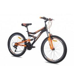 Dečiji bicikl FOCUS 400 24inc 18 crno-narandžasti
