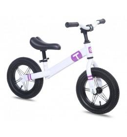Dečiji bicikl guralica Balance 12 bela-ljubičasta