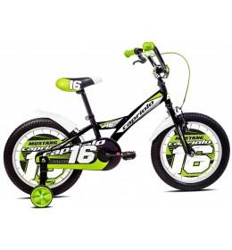 Dečiji Bicikl Mustang 16 Crna i Bela i Zelena