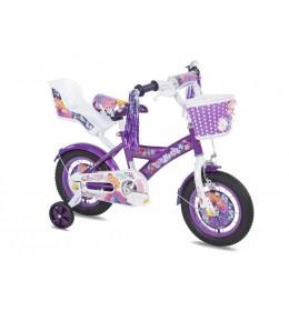 Dečiji bicikl Princess 12 inča ljubičasta
