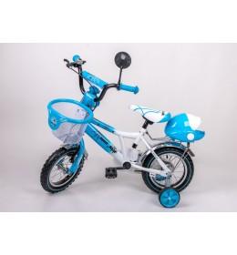 Dečiji bicikl sa pomoćnim točkićima BMX 12 plavo beli