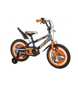 Dečiji bicikl Wolf 16in crnasivanarandžasta